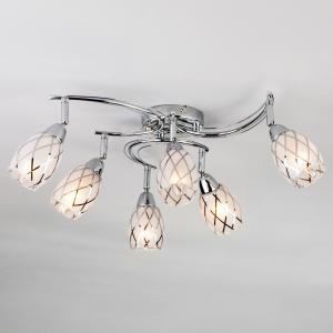 Потолочный светильник с поворотными плафонами 30128/6 хром