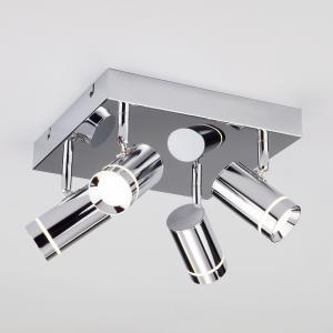 Светодиодный потолочный светильник с поворотными плафонами 20064/4 хром