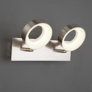 Светодиодный настенный светильник с поворотными плафонами 20065/2 сатин-никель