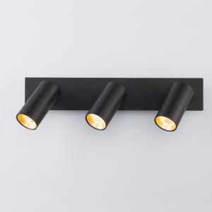 Светодиодный настенный светильник с поворотными плафонами 20066/3 черный/золото