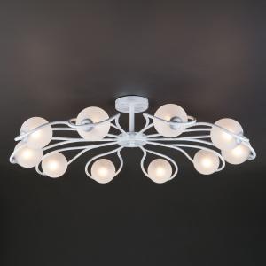Потолочная люстра 70089/10 белый с серебром