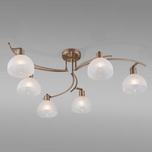 Потолочный светильник со стеклянными плафонами 30141/6 античная бронза