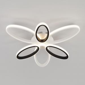 Светодиодный потолочный светильник с пультом управления 90137/6 белый/чёрный