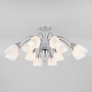 Потолочная люстра со стеклянными плафонами 30149 хром