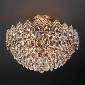 Люстра с хрусталем 3649/6 золото / прозрачный хрусталь