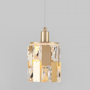 Подвесной светильник с хрусталем 50101/1 перламутровое золото