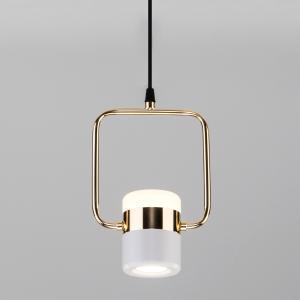Подвесной светодиодный светильник с поворотным плафоном 50165/1 LED золото/белый