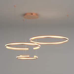Подвесной светодиодный светильник с пультом управления 90180/3 золото