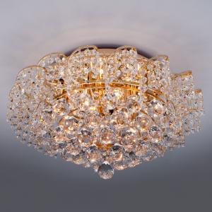 Потолочная люстра с хрусталем 16017/9 золото