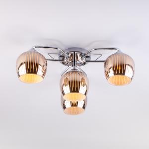 Потолочная люстра со стеклянными плафонами 30161/4 хром