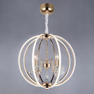 Светодиодный подвесной светильник с хрусталем и пультом 418/8 Strotskis